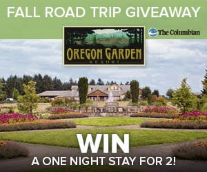Oregon Garden Fall Road Trip Giveaway contest promotional image