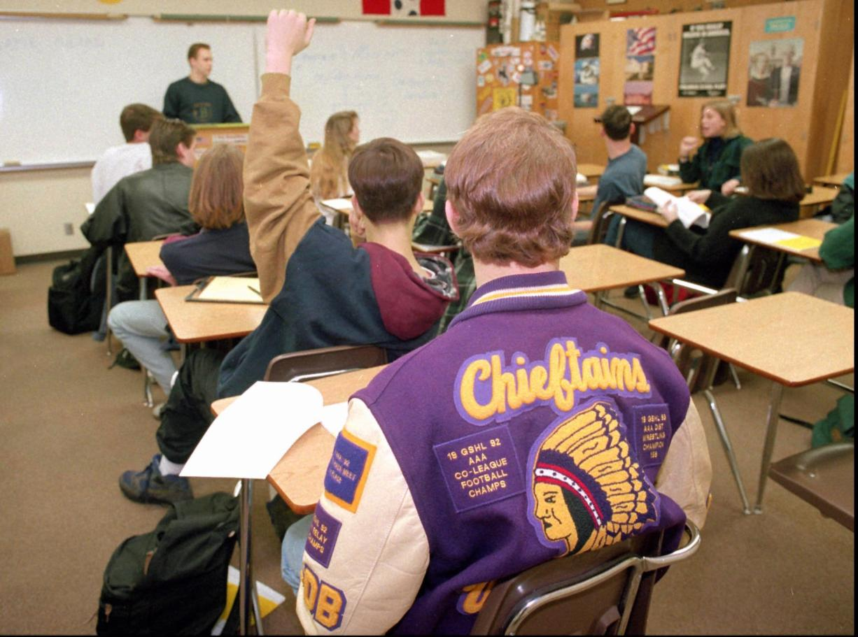 Columbia River students voted in 1994 to retain the Chieftain mascot but the school board has decided to remove it.