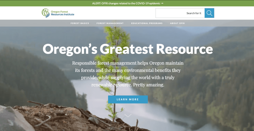 The Oregon Forest Resources Institute website.