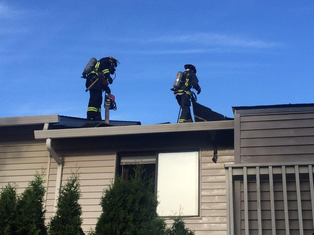 The fire was reported at 6:07 p.m. at the Apple Knoll Apartments, a 22-unit complex at 5114 N.E. 34th St., near Highway 500 and Stapleton Road.