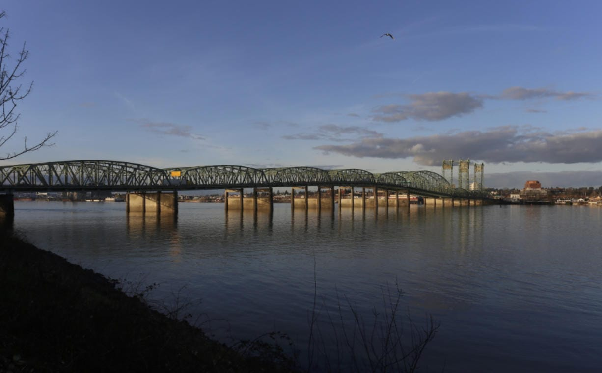 The Interstate Bridge is seen looking north from the Oregon side in 2017.