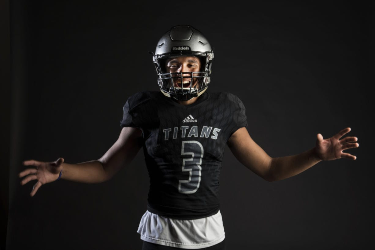 Former Union Titans football player Darien Chase played a key role in his team's victory at El Cerrito, Calif., in 2018.