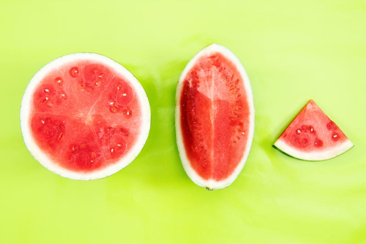 If the melon is too pallid or splotchy in parts, keep looking.
