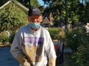 ESTHER SHORT: Bob Britt heads the maintenance efforts at the Esther Short Park Rose Garden.