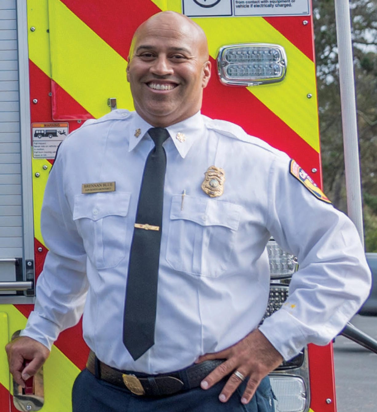 Brennan Blue will serve as the new chief of the Vancouver Fire Department starting on Sept.