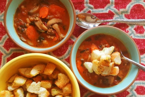 This hearty Italian stew takes its inspiration from minestrone soup, but is thickened with (shhhh!) leftover mashed potatoes. (Photos by MONIKA SPYKERMAN/The Columbian)