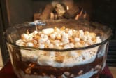 Welcome the cozy days of autumn with this campfire-inspired trifle featuring graham crackers, marshmallows and chocolate.
