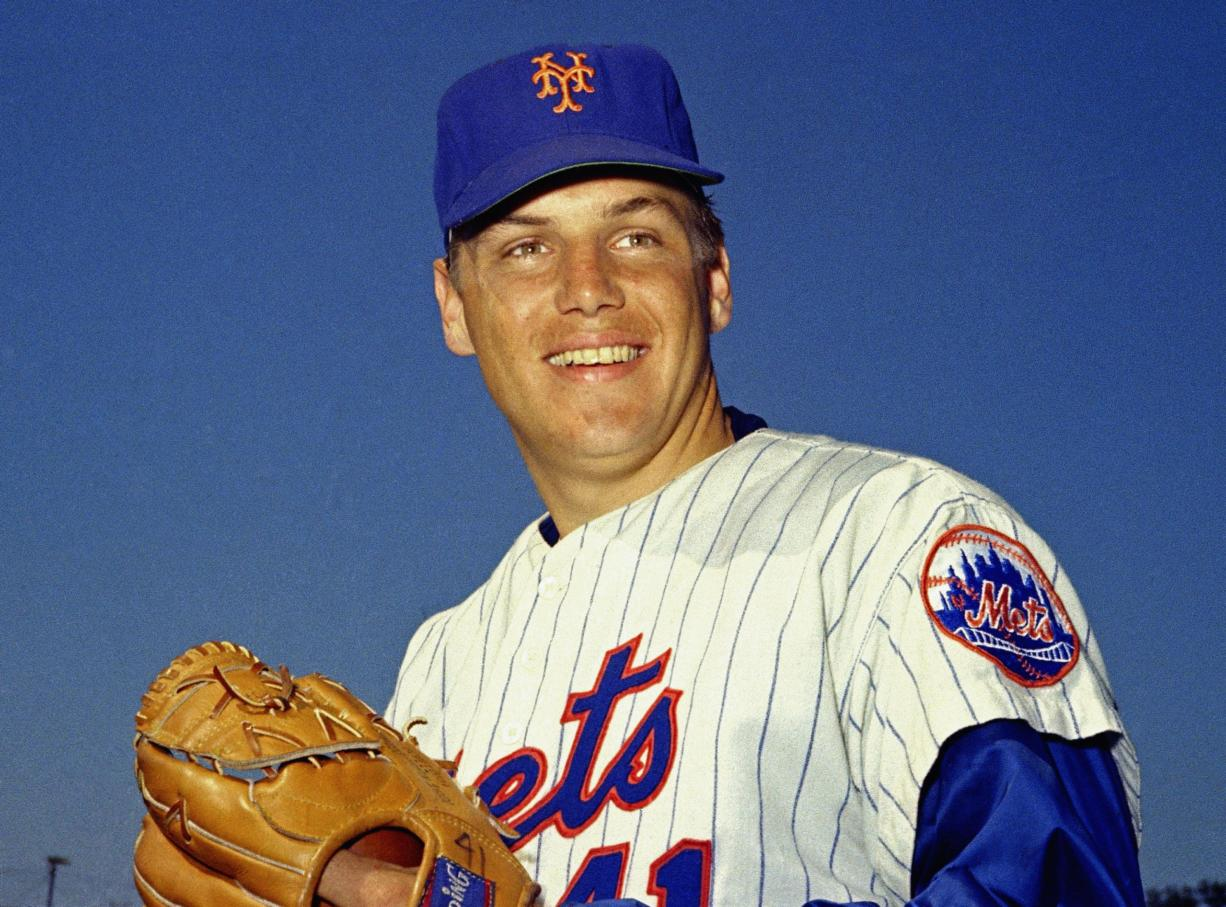 New York Mets pitcher Tom Seaver, pictured here in March 1968, was the galvanizing leader of the Miracle Mets 1969 championship team and a pitcher who personified the rise of expansion teams during an era of radical change for baseball. The Hall of Fame said Wednesday night, Sept. 2, 2020, that Seaver died on Aug. 31 from complications of Lewy body dementia and COVID-19. He was 75.