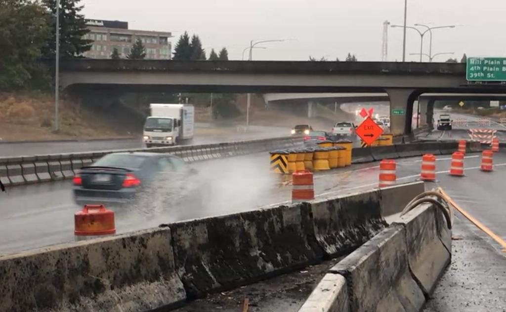 Standing water caused issues on Interstate 5 on Wednesday afternoon.