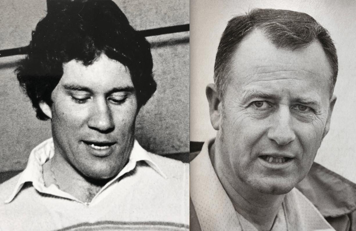 Gordon Elliott, left, coached the Camas football team from 1983-85. Gordon Buslach coached Prairie from 1979-88.