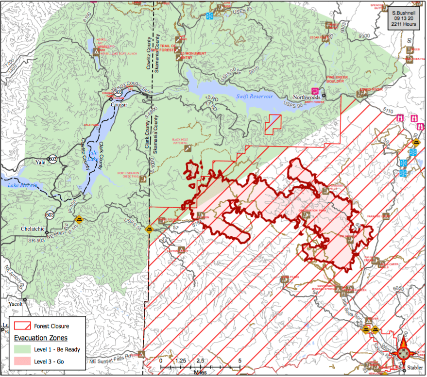 Forest Service Fire Map Big Hollow Fire grows to over 20,000 acres in Gifford Pinchot