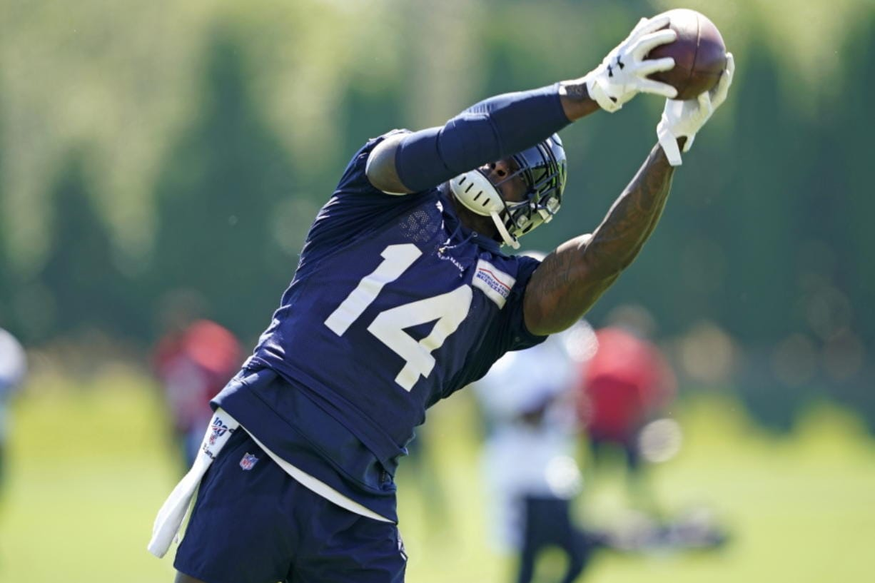 Seattle Seahawks wide receiver DK Metcalf didn't disappoint in his rookie season even after sliding in the draft. It's raised the expectations for what many are expecting to be a breakout season for Seattle's second-year wide receiver. (AP Photo/Ted S.