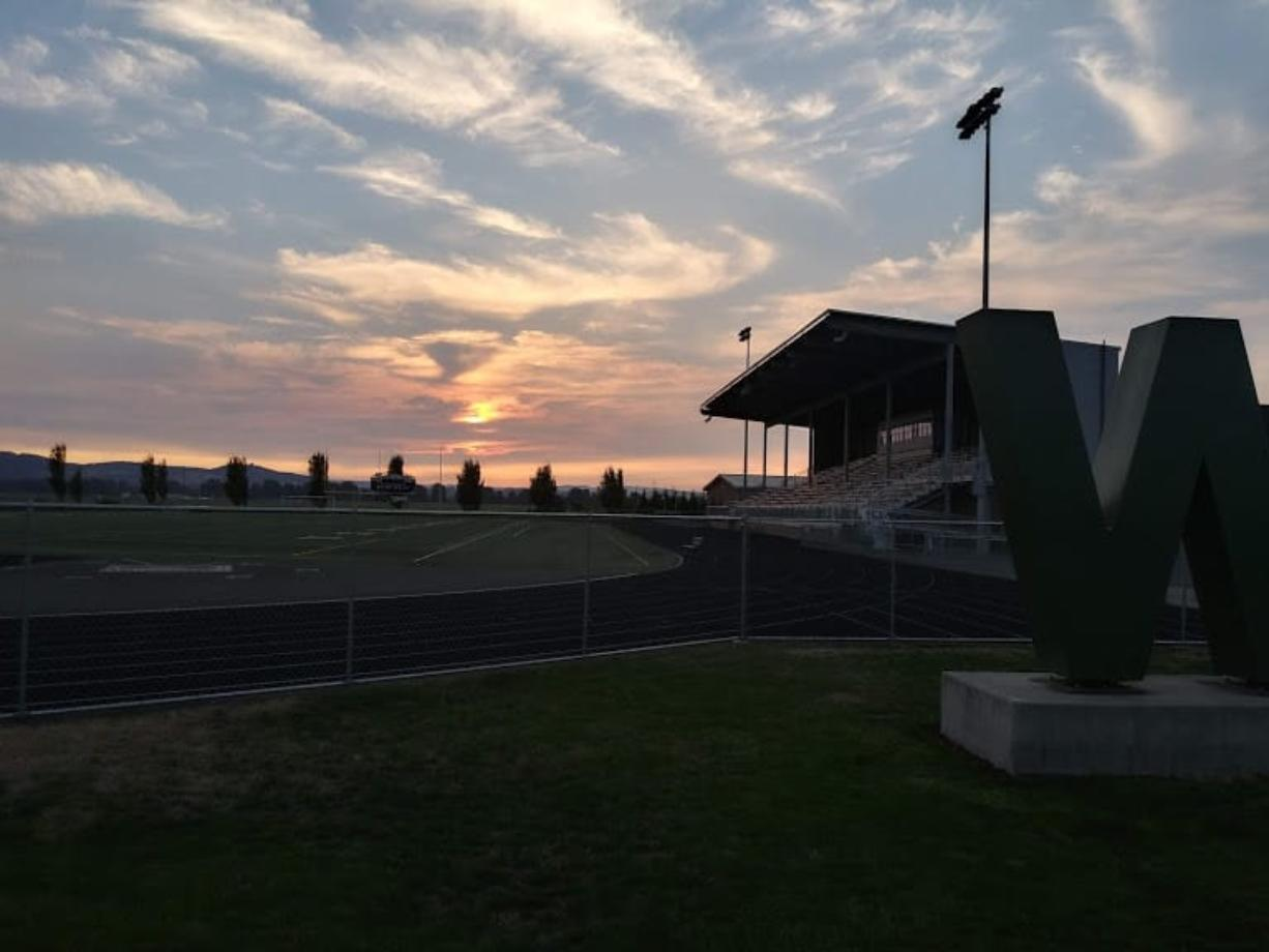 The football stadium at Woodland High School on Friday, Sept.
