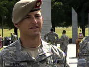 In this image from video provided by the U.S. Army, then-Sgt. 1st Class Thomas Payne is interviewed as a winner of the 2012 Best Ranger competition at Fort Benning, Ga., on April 16, 2012. Payne will receive the Medal of Honor, the U.S. military's highest honor for valor in combat, for actions during a daring 2015 raid in Iraq that rescued about 70 hostages who were set to be executed by ISIS militants, The Associated Press has learned. Sgt. Maj. Payne will receive the honor in a White House ceremony on the 19th anniversary of the Sept. 11, 2001, terrorist attacks.