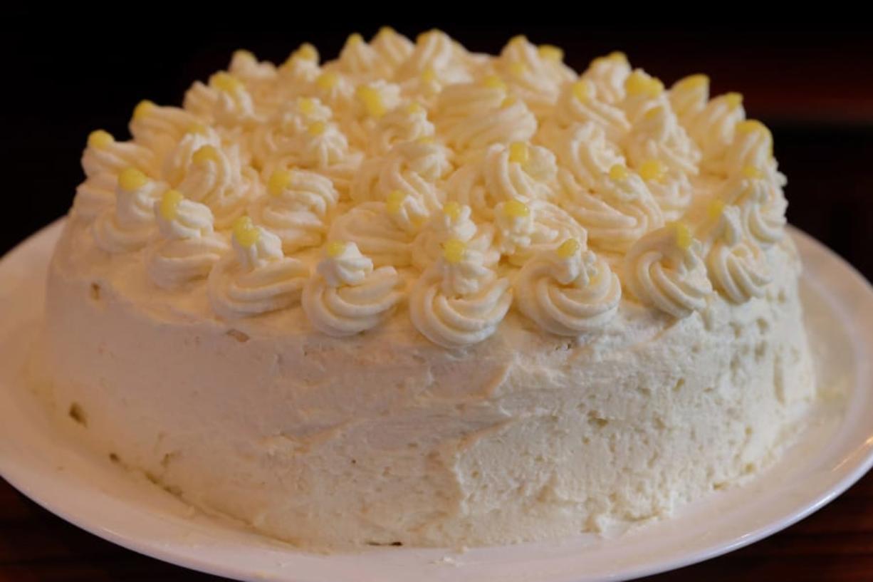 Lemon Mascarpone Layer Cake, photographed Wednesday, Aug. 26, 2020. (Hillary Levin/St. Louis Post-Dispatch/TNS) (Hillary Levin/St.