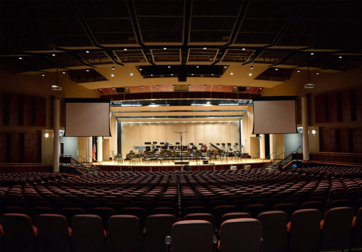 The acoustically impressive Skyview Concert Hall at Skyview High School seats up to 1,100 people and has been the home of the Vancouver Symphony Orchestra for years. But most arts groups can't afford to lease space like this.