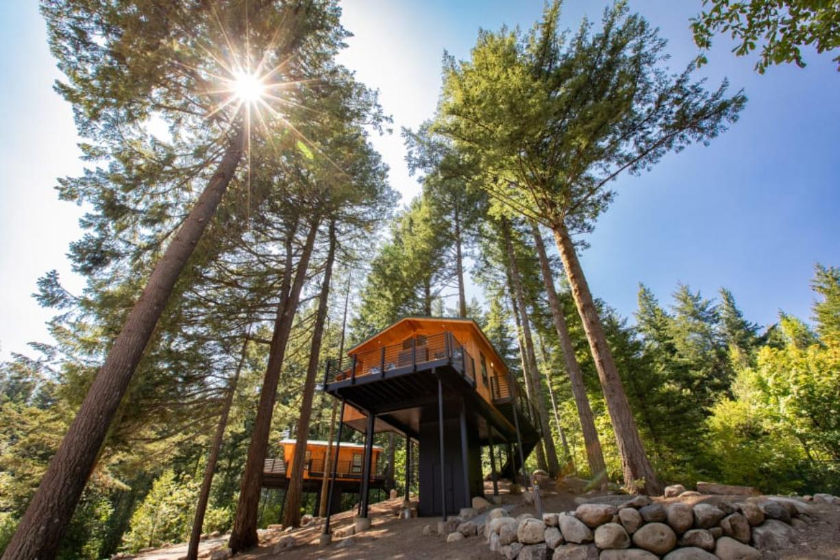 Skamania Lodge's tree house cabins have been very popular this summer as guests seek out socially distanced recreation opportunities. The lodge opened two new tree houses in September.