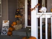 The Marshall family house in Camas is decorated for  Halloween.