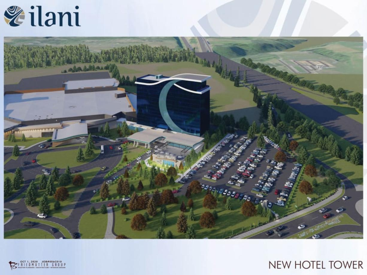 ilani's primary customer base come from within 80 miles of the casino, but operators believe the hotel will attract a secondary market that lives beyond Southwest Washington.