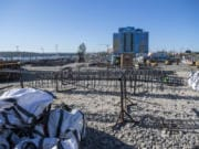 Construction is underway at Block D of the Port of Vancouver's Terminal 1, the future site of an AC Hotel by Marriott. The project comes from Vancouver-based Vesta Hospitality.