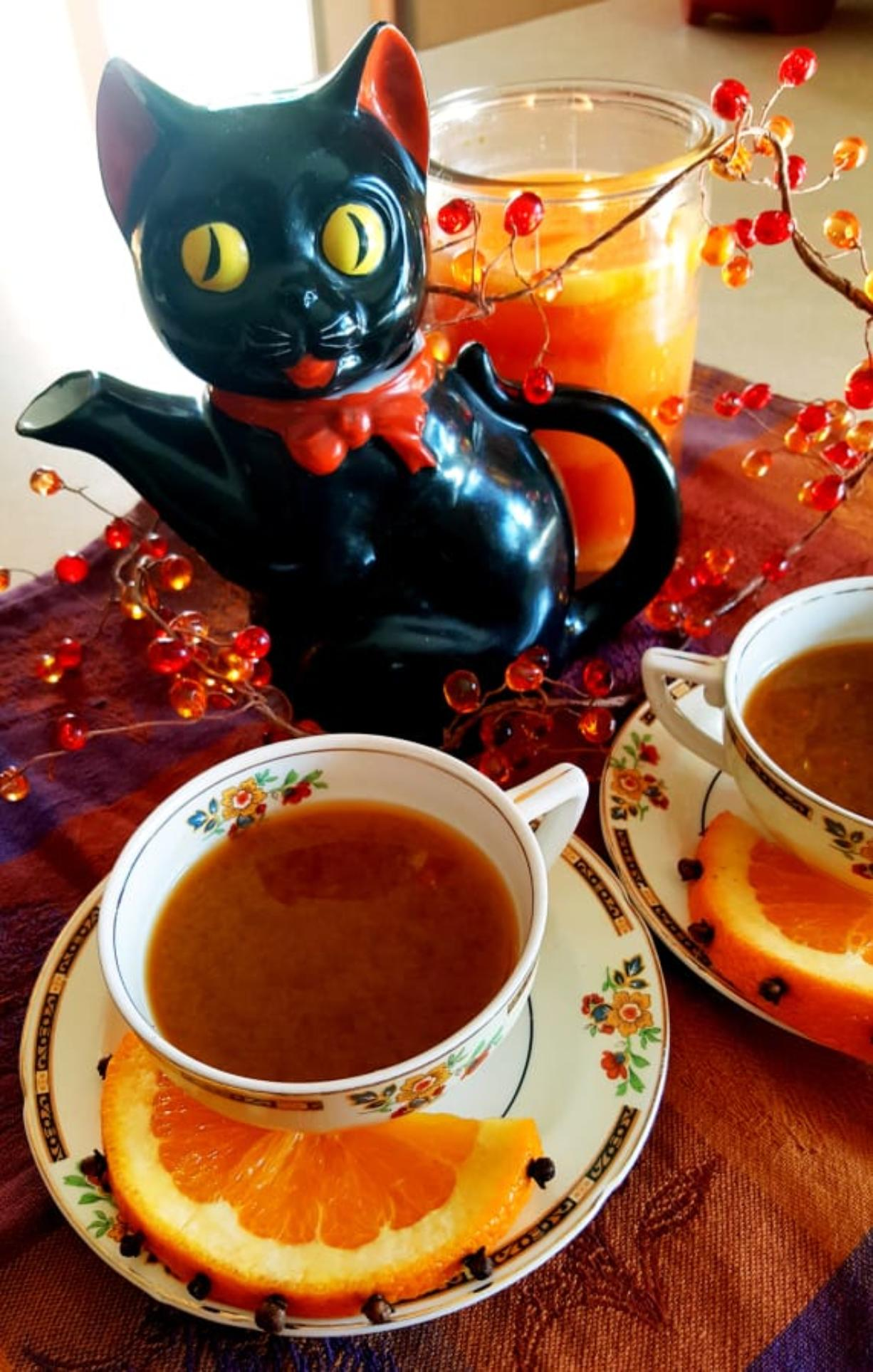 Orange Spice Tea smells scrumptious while it's simmering and makes you feel cozier with each sip.