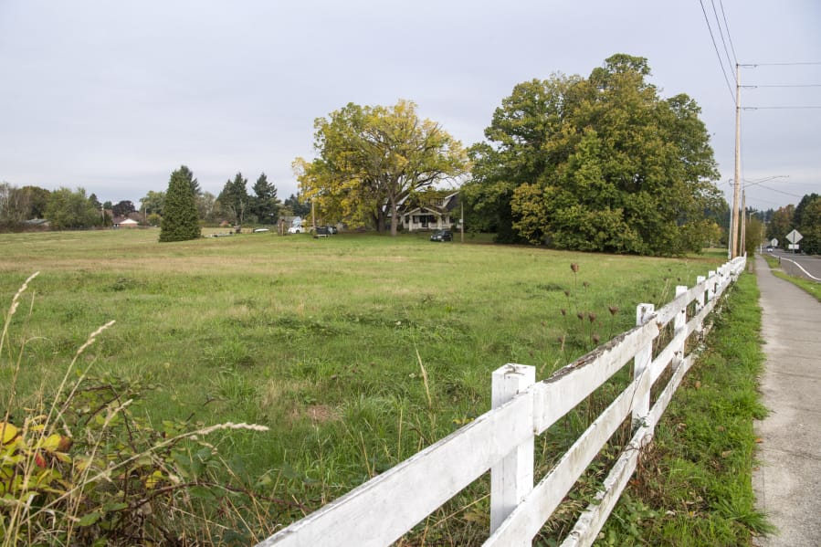 "A 9 1/2 -acre future park donated by Ed and Dollie Lynch, located at the northwest corner of 48th and Franklin streets, will be named ""Dollie and Ed's Park."" (The Columbian)"