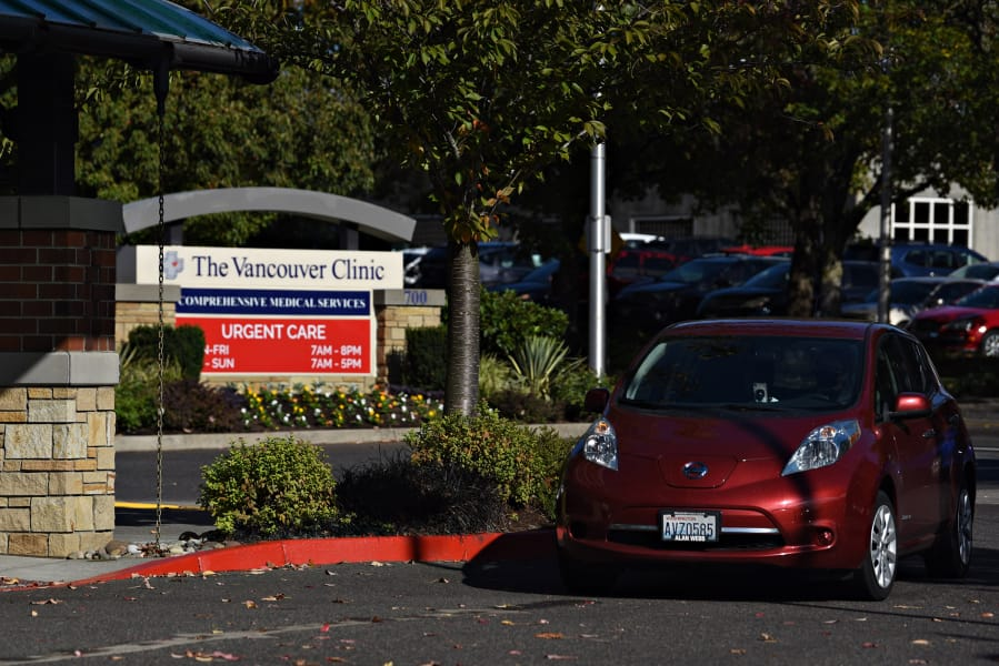 Driver Connie Pickering pulls into the Vancouver Clinic with Bennye Wright, a Vancouver woman who uses the Human Services Council's senior transportation program.