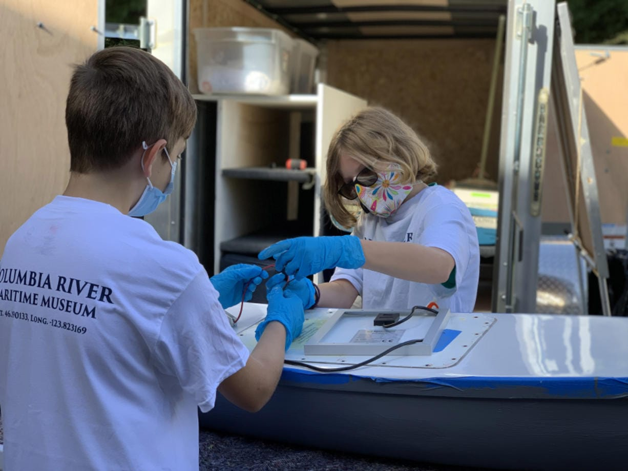 FELIDA: Fifth and seventh-grade students at Eisenhower Elementary School designed miniature boats to sail across the Pacific Ocean through a program called Mobile Miniboat Makerspace, facilitated by the Columbia River Maritime Museum in Astoria, Ore.