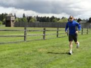 Guidebook author Craig Romano on the Discovery Trail at Fort Vancouver near downtown Vancouver.