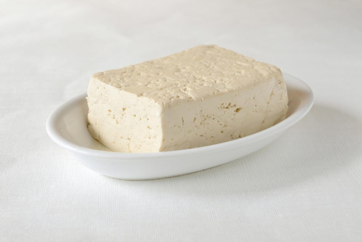 Tofu is low in fat and high in protein.