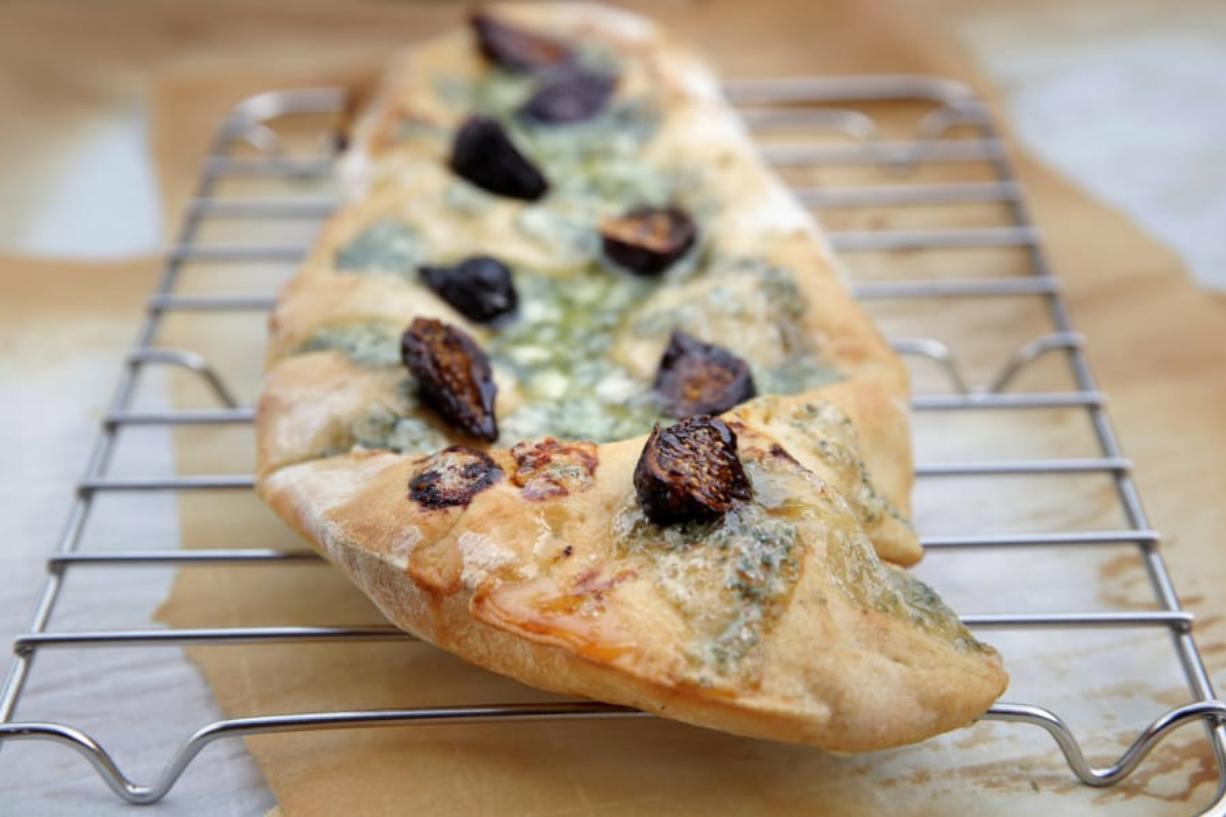 Fig and Gorgonzola Flatbread. (Hillary Levin/St. Louis Post-Dispatch/TNS) (Hillary Levin/St.