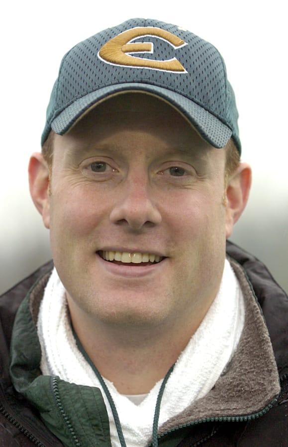 Evergreen High School football coach Cale Piland in 2004. (The Columbian files)