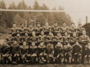 The 1941 Ridgefield Spudders, as pictured in the school yearbook, won their third consecutive league title by continuing their shutout streak all season.