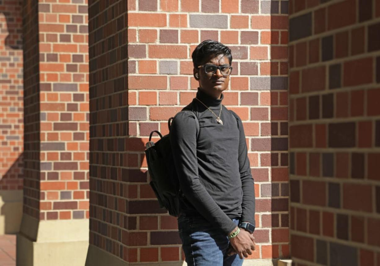 Kevin J. Patel, a Loyola Marymount University sophomore, is a climate activist who has had to adjust during the pandemic. (Myung J.