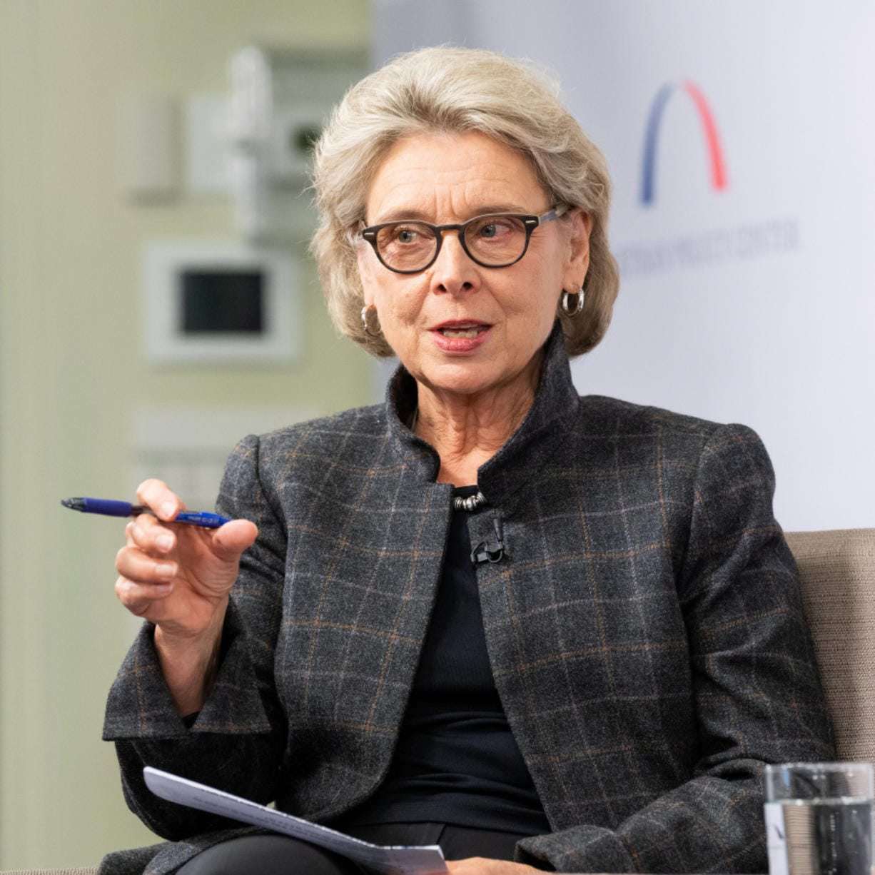 Christine Gregoire, former governor of Washington, speaks at the Bipartisan Policy Center in Washington, D.C., on April 17, 2018.