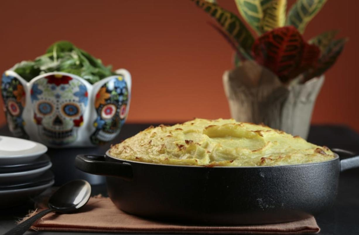 A Shepherd's pie prepared and styled by Shannon Kinsella, in the test kitchen, Wednesday Sept. 30, 2020.