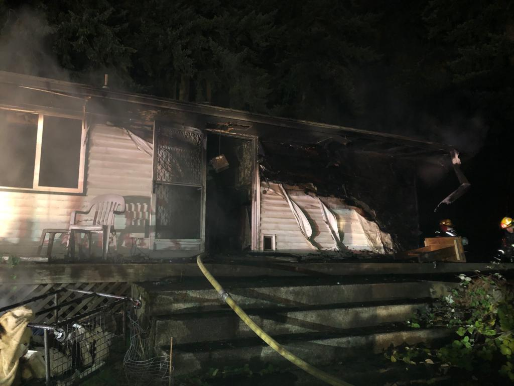One person died in a house fire in the Minnehaha area on Saturday night.