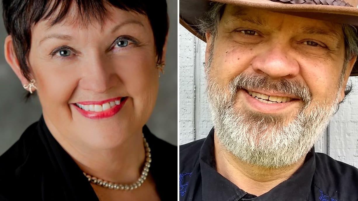 Karen Bowerman, left, and Jesse James are candidates for the Clark County Council District 3 race.