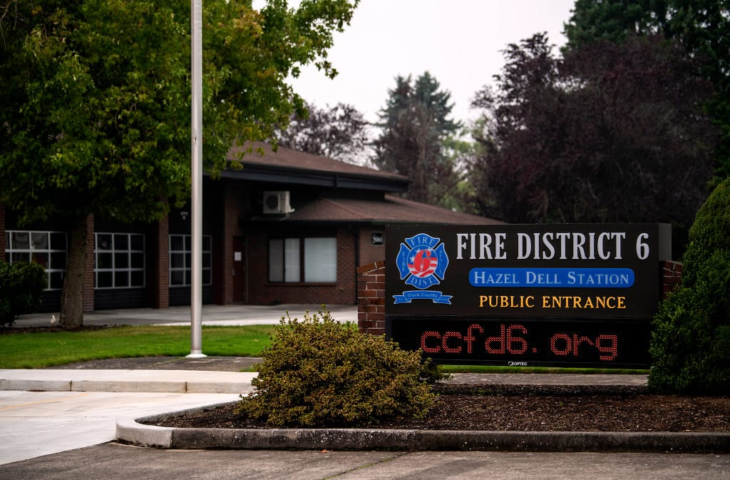 Clark County Fire District 6 is pictured in Vancouver on Sept. 17, 2020.