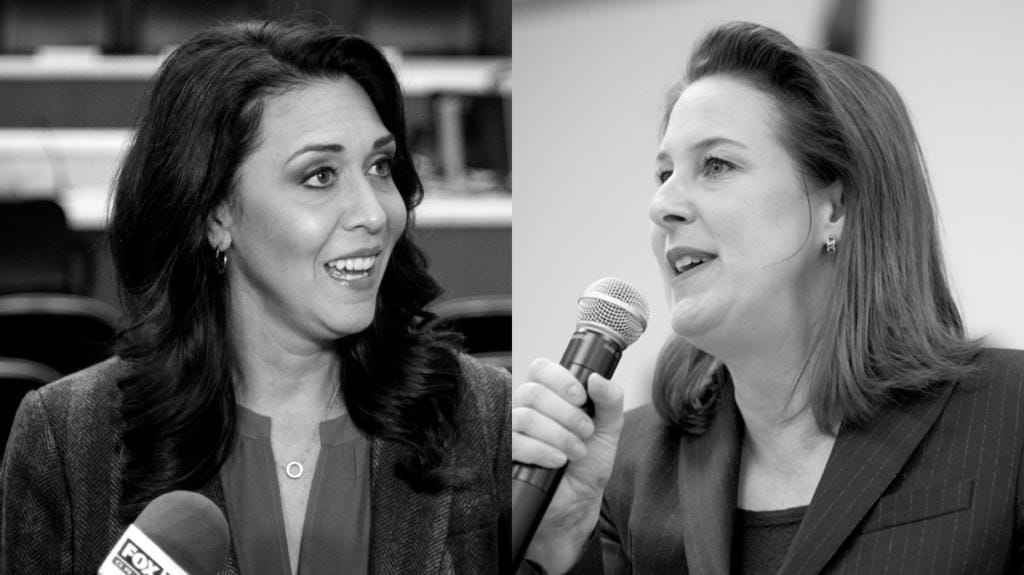 Rep. Jaime Herrera Beutler, R-Battle Ground, left, and Democratic challenger Carolyn Long face off for the second time for the 3rd District congressional seat.