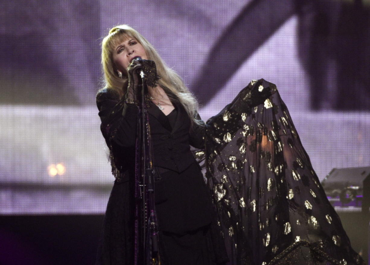 Stevie Nicks performs at the Rock & Roll Hall of Fame induction ceremony in New York on March 29, 2019. Nicks has spent the last 10 months homebound, mainly due to the coronavirus pandemic.