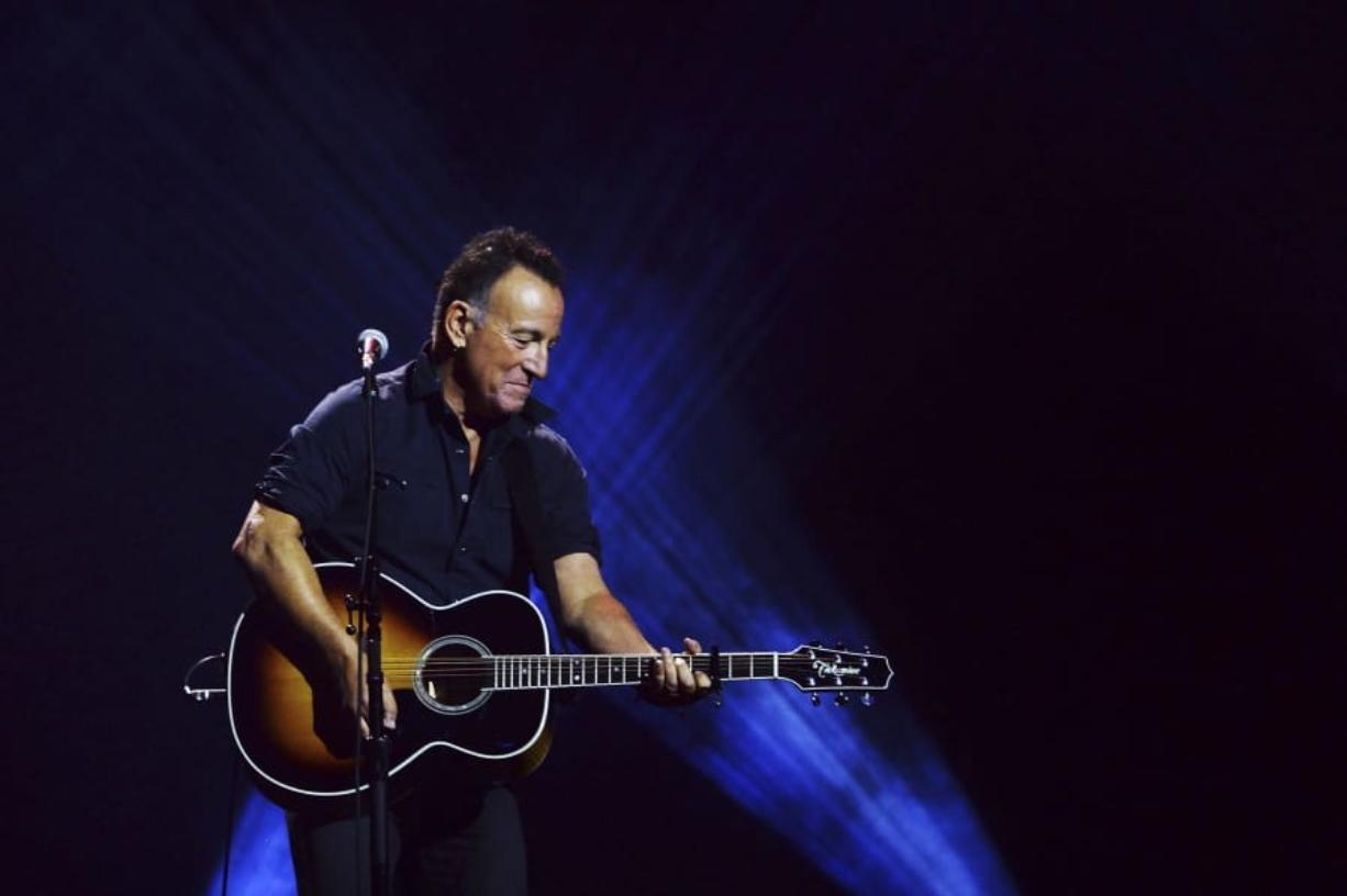 Bruce Springsteen performs during the closing ceremonies of the Invictus Games in Toronto on Sept. 30, 2017.