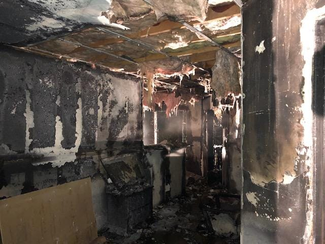 A fire caused severe damage to four units at the Redwood Acres apartment complex in Vancouver on Sunday morning.
