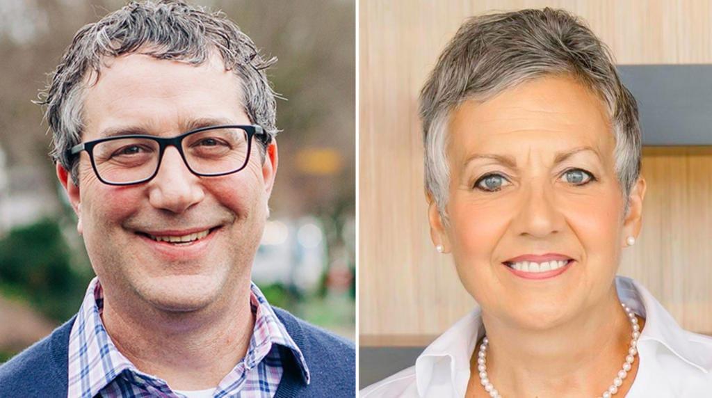 Democrat Daniel Smith, left, is challenging Sen. Lynda Wilson, R-Vancouver, for the 17th Legislative District state Senate seat.