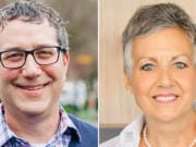Democrat Daniel Smith, left, is challenging Sen. Lynda Wilson, R-Vancouver, for the 17th Legislative District state Senate seat.