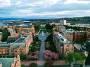Aerial photo of the University of Washington campus (iStock.com)