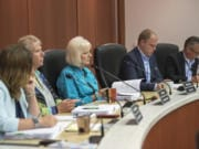 The members of the Clark County Council, shown here in 2019, comprise the Board of Health, which will vote Wednesday on whether or not racism is a public health emergency.