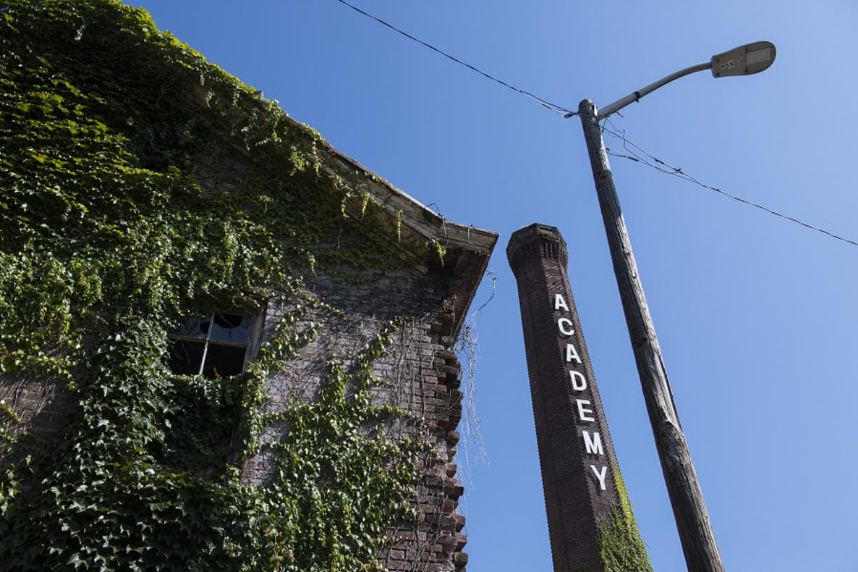 The Historic Trust, owner of the Providence Academy smokestack, raised only $600 in pledged donations to preserve it, even though it needs $800,000. The Trust continues its pursuit to tear it down in fear of collapse during an earthquake.