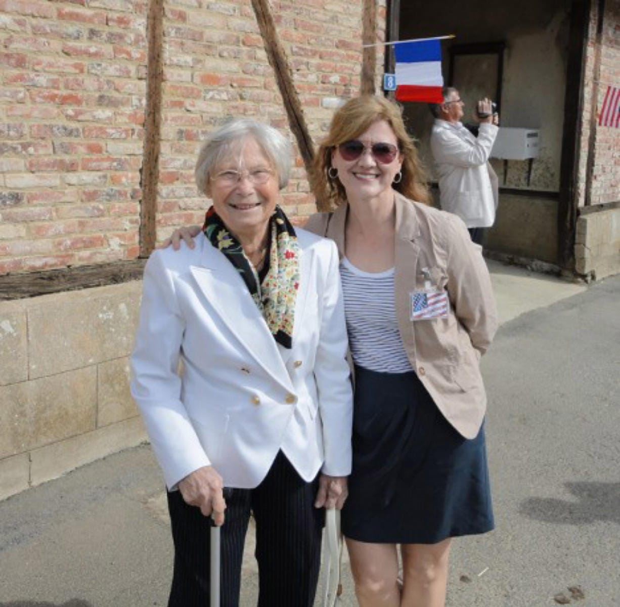 Godelieve Van Laere Pena and author Susan Tate Ankeny in Le Cardonnois, France, in 2011.