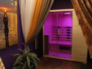 Clients at In Light Hyperbarics can purchase a session in a light sauna room, where they're bathed in soft light.